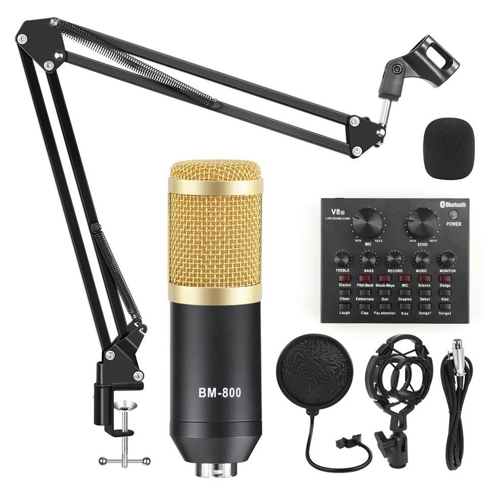Pack microphone à condensateur BM-800 + Carte son V8S (38.58€ via le code LIVE1AN07)