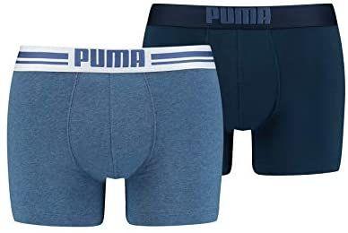 Lot de 2 boxers Puma Placed Logo pour Homme - Plusieurs tailles