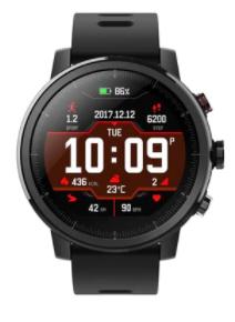 Montre connectée Amazfit Stratos - Bluetooth, GPS, étanche 50m, Noir