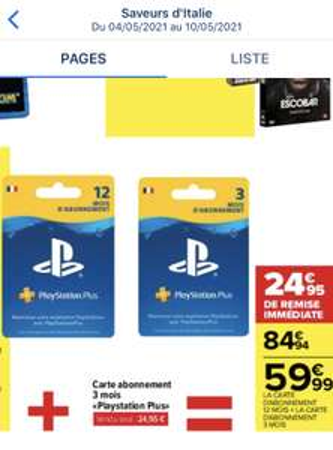 Carte d'abonnement PlayStation Plus 12 mois + 3 mois