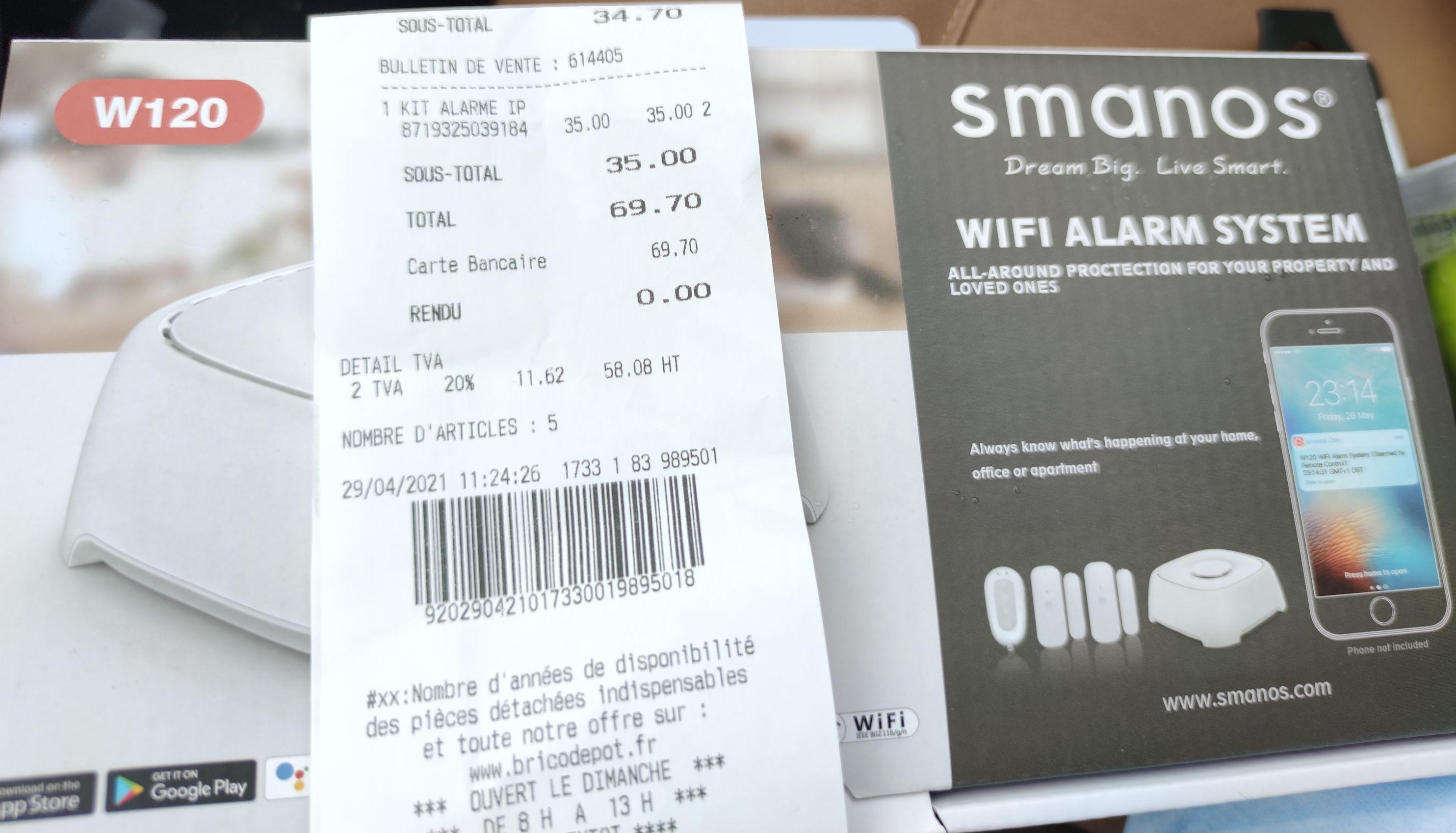 Alarme sans fil connectée Smanos W120 - Tarbes (65)