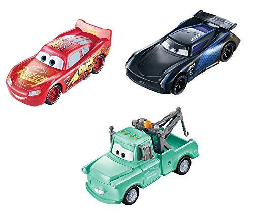 Pack de 3 voitures Disney Pixar Cars Color Changers changeant de couleur dans l'eau, Flash McQueen, Martin et Bobby Swift