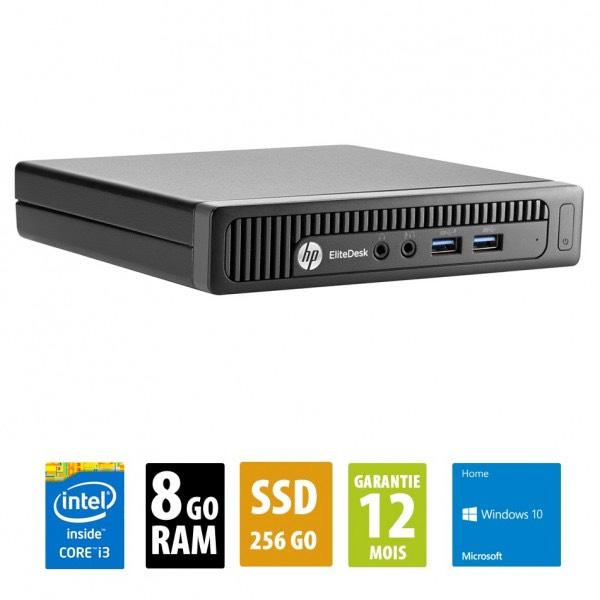 Ordinateur HP EliteDesk 800 G1 USFF (i3-4150T, 8 Go de RAM, 256 Go en SSD, Windows 10) - reconditionné Grade A