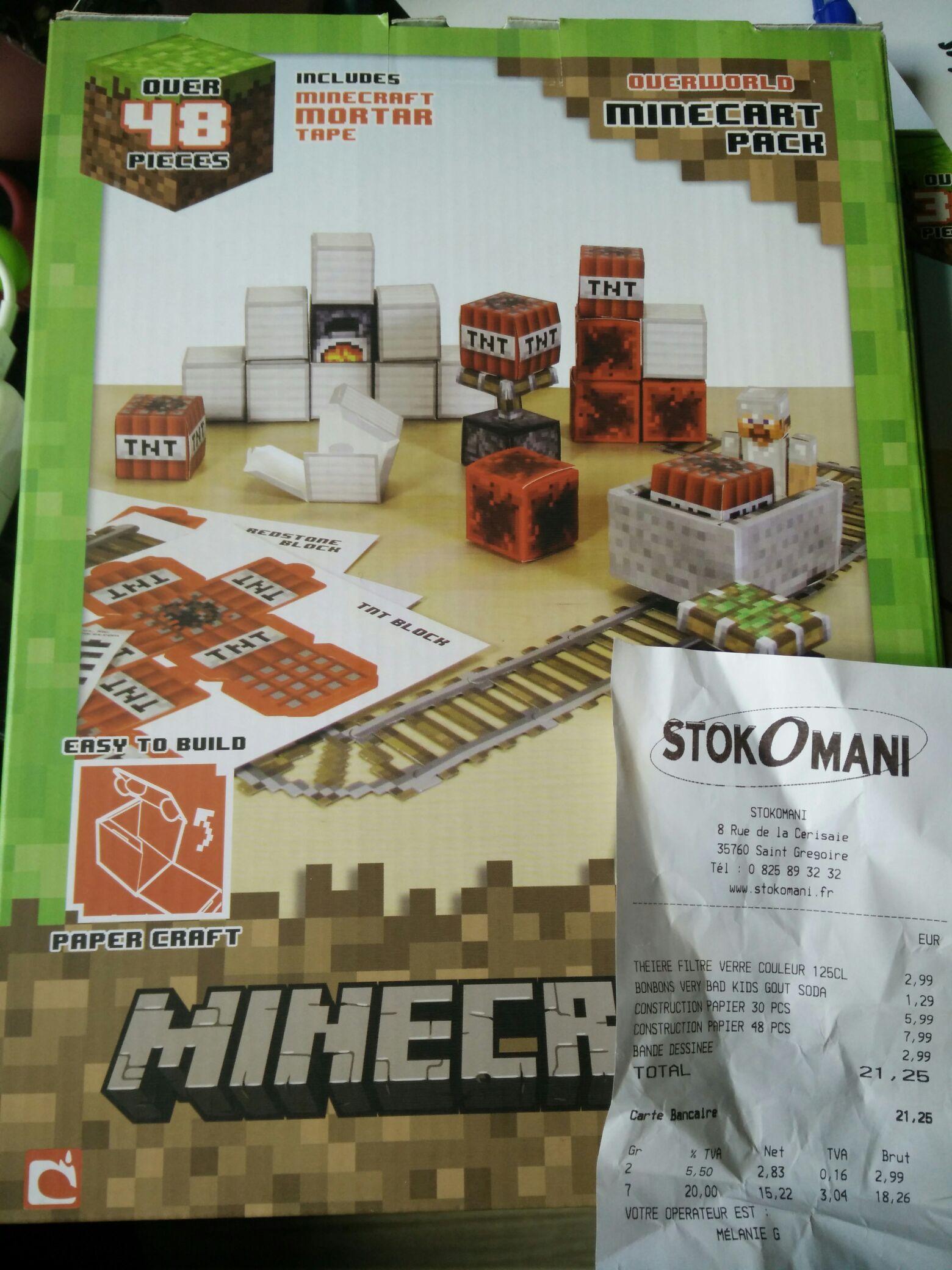 Selection de Papercraft Minecraft en promotion - Ex : 48 pièces