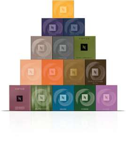 Assortiment de 150 capsules de café Nespresso Vertuo offert pour toute commande