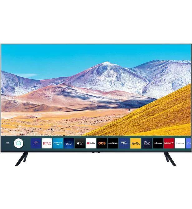 "TV 75"" Samsung UE75TU8005 (2020) - 4K UHD, LED, HDR 10+ / HLG, Micro Dimming UHD, Processeur Crystal, Smart TV (Boulanger)"