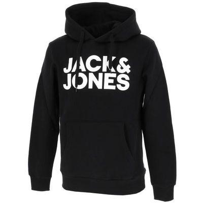 Sélection de sweats à capuche Jack & Jones pour Homme en promotion - Ex : Sweat Noir (Tailles S à 2XL)