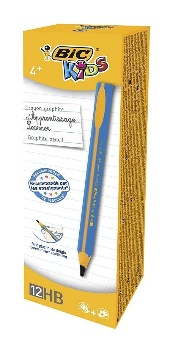 Boîte de 12 Crayons à Papier d'Apprentissage Triangulaires Bic Kids - Extra-Larges, HB, Corps Bleu