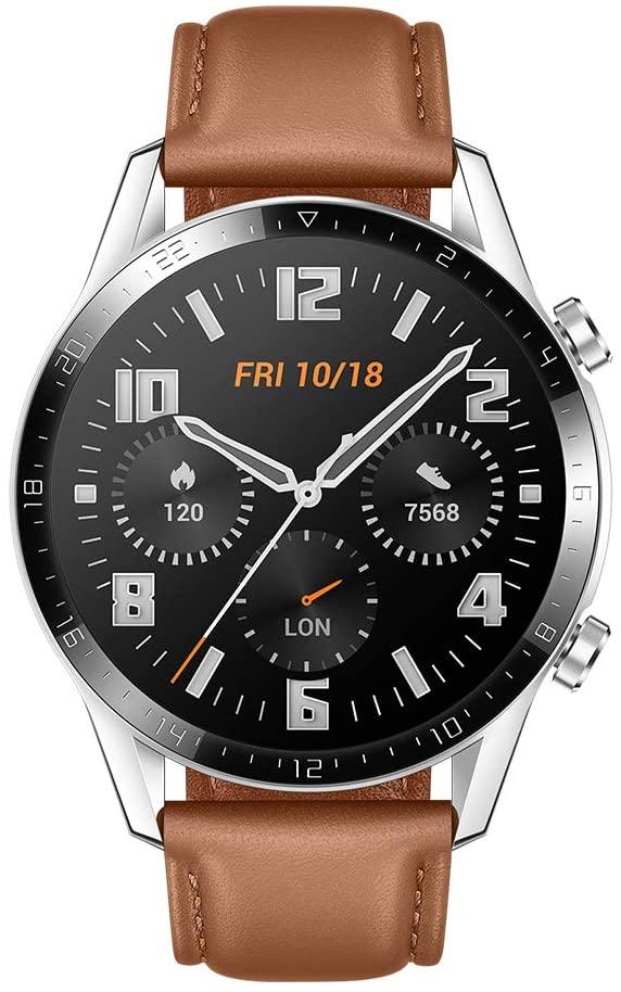 Montre connectée Huawei Watch GT 2 - 46 mm, Bracelet Marron (Vendeur tiers)