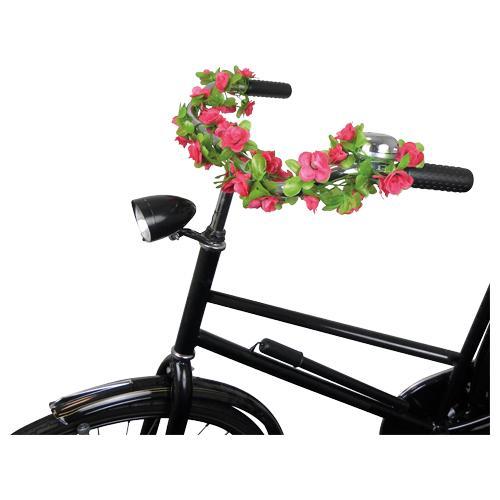 Guirlande de fleurs pourr vélo