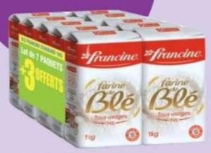 Lot de 10 paquets de farine de blé Francine T45 tous usages - 10 x 1kg