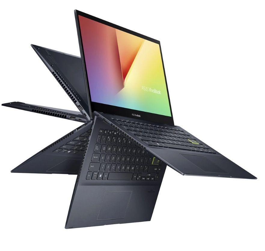 "PC Portable 14"" Asus VivoBook Flip 14 (TM420IA-EC041T) - Full HD, Ryzen 7 4700U, 8 Go RAM, 512 Go SSD, QWERTY ES"