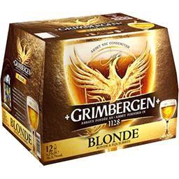 Lot de 2 packs de 12 bières blondes Grimbergen - 24x 25cl (via 5.38€ sur la carte fidélité)