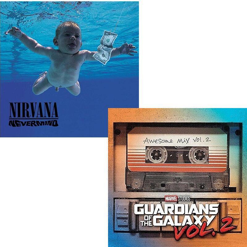 """Sélection de vinyles en promotion - Ex : Nirvana """"Nervermind"""" ou Les Gardiens de la Galaxie vol.2 (13,99€)"""