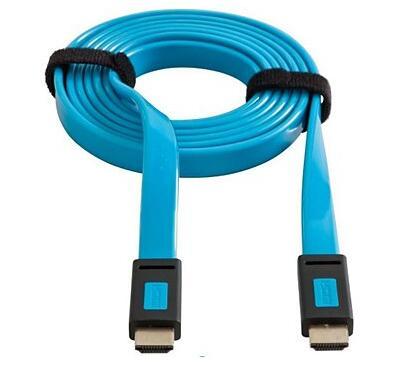 Câble HDMI Essentielb Plat - 2M, Bleu (Via Retrait Magasin)