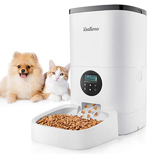 Distributeur automatique de Croquettes pour Chat Balimo - 4L, Jusqu'à 4 Repas par Jour (Vendeur tiers)