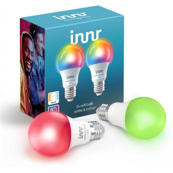 2 Ampoules connectées INNR Smart Bulb White & Colour E27, WiFi