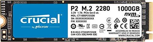 SSD interne M.2 Crucial P2 NVMe (TLC 3D, DramLess) - 1 To