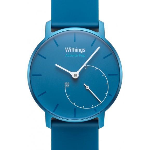 Montre connectée Withings Activité Pop - Bleu Azure ou Beige (Bracelet silicone)