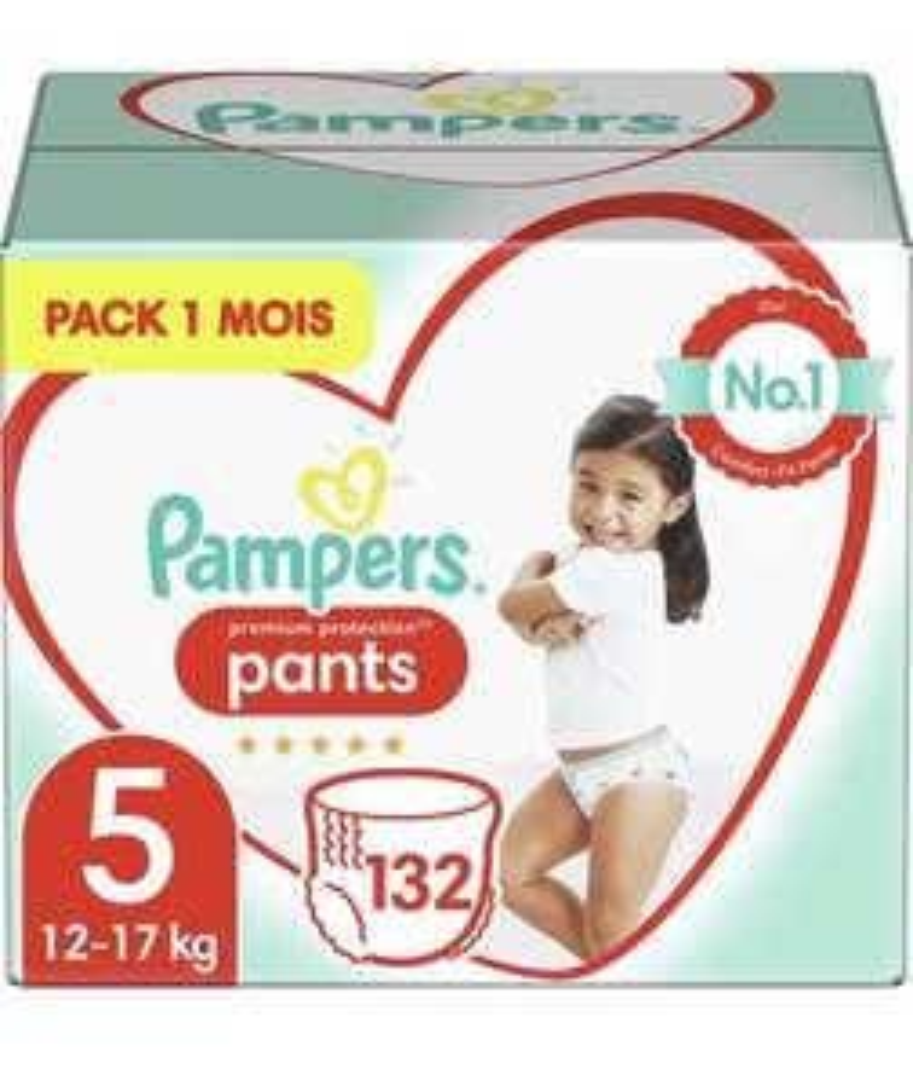 Paquet de 132 Couches-Culottes Pampers Premium Protection Pants - Ex : Taille 5 (Pack 1 Mois)