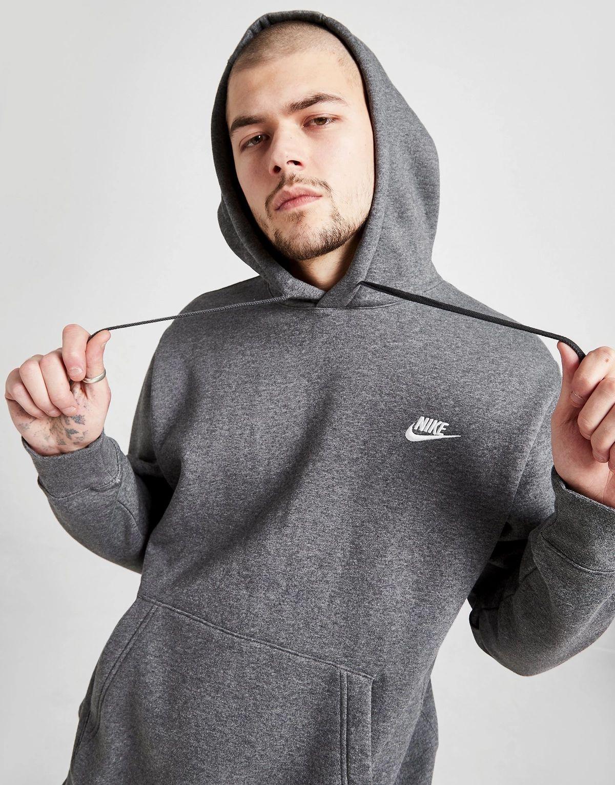 Sweat-shirt à capuche Nike Foundation - gris
