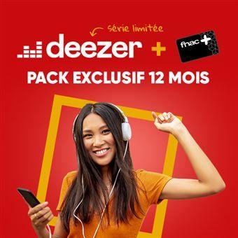 Abonnement de 12 Mois à Deezer Premium (nouveaux clients) + Carte Fnac+ 1 an