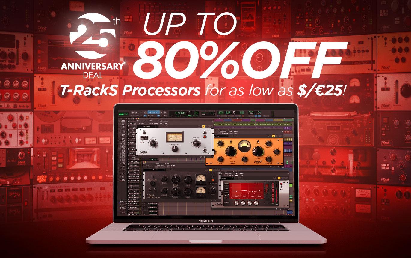 Sélection de logiciels T-RackS Processors en promotion (Dématérialisé) - ikmultimedia.com