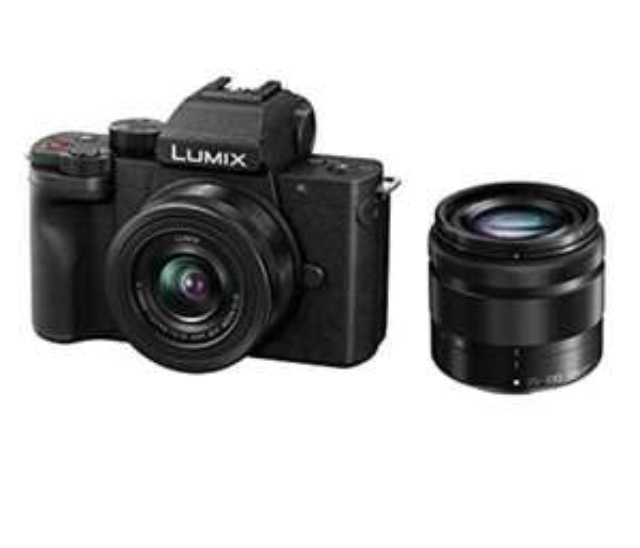 Appareil de photo Panasonic Lumix G100W + Lente Lumix 12-32mm + 35-100mm