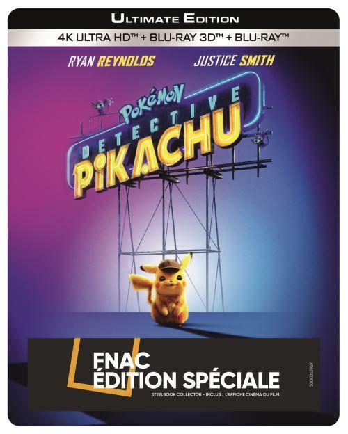 Sélection de Blu-ray 4K en promotion à 15€ - Ex: Détective Pikachu