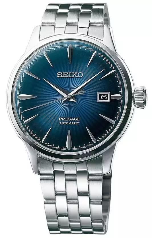Montre automatique à trois aiguilles Seiko Presage Cocktail Blue moon SRPB41J1 (olfert-co.de)