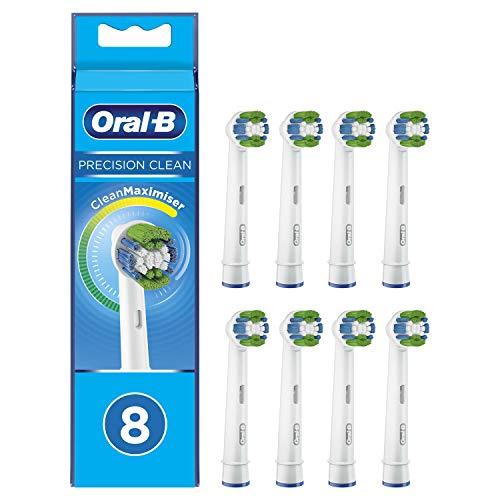 Lot de 8 brossettes Oral-B Precision Clean CleanMaximiser pour brosse à dent électrique