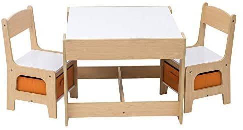 Table d'enfant Woltu SG002 en Bois + 2 chaises (Vendeur tiers)