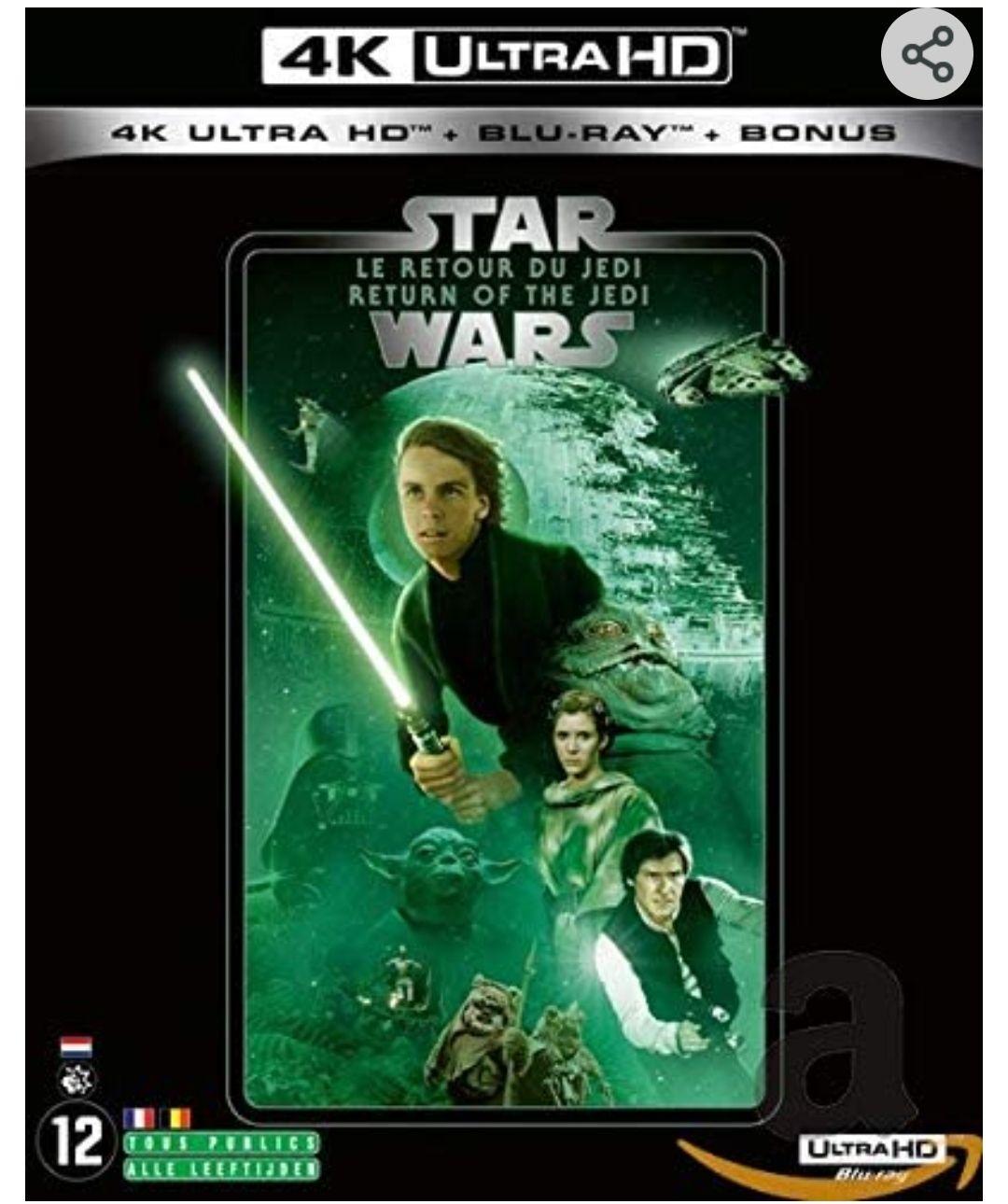Coffret Blu-ray 4K UHD + Blu-ray + Bonus Star Wars Episode VI - Le Retour du Jedi