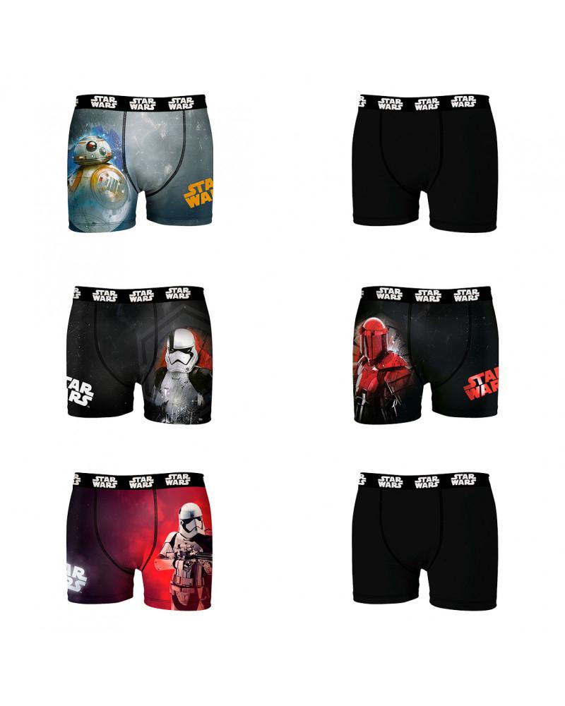 Sélection de Boxers en promotion - Ex : Lot de 6 boxers homme Star Wars