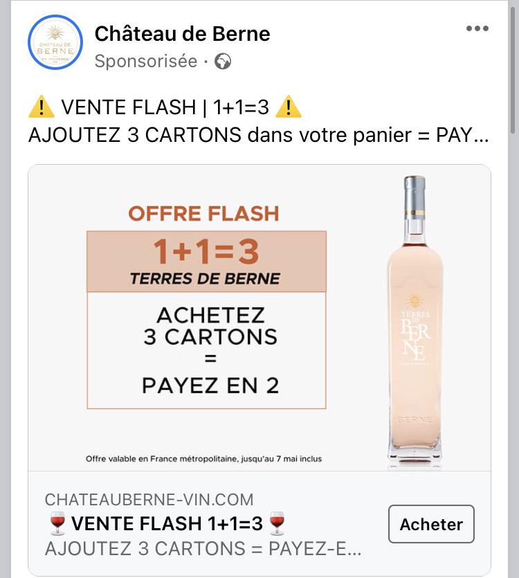 Lot de 3 Cartons de 6 Bouteilles de Vin Rosé Terres de Berne Côté de Provence - 18x 75cl (chateauberne-vin.com)