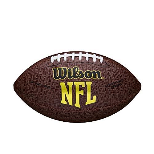 Ballon de football américain Wilson NFL Force - Matériau Composite, Brun