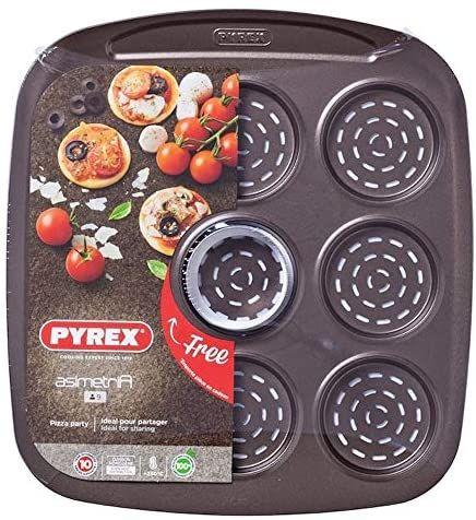 Plaque de cuisson 9 mini pizza Pyrex Asimetria