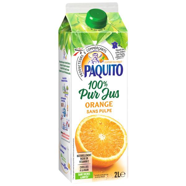 Lot de 3 Bouteilles de Jus d'orange Pur jus Paquito (3x 2L)