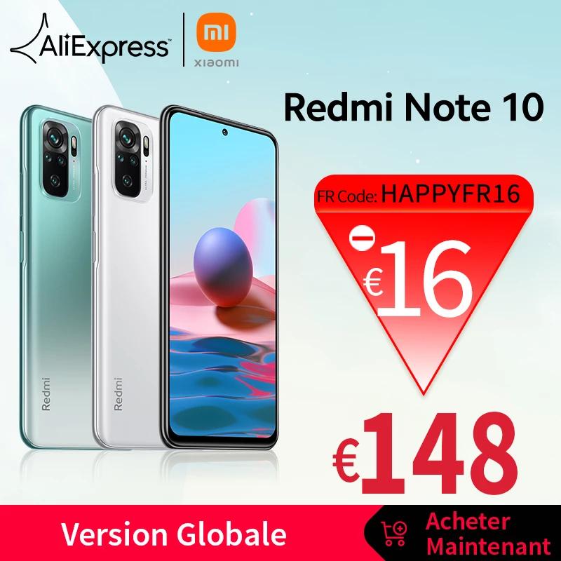 "Smartphone 6.43"" Xiaomi Redmi Note 10 - 64 Go - Gris/Vert/Blanc"