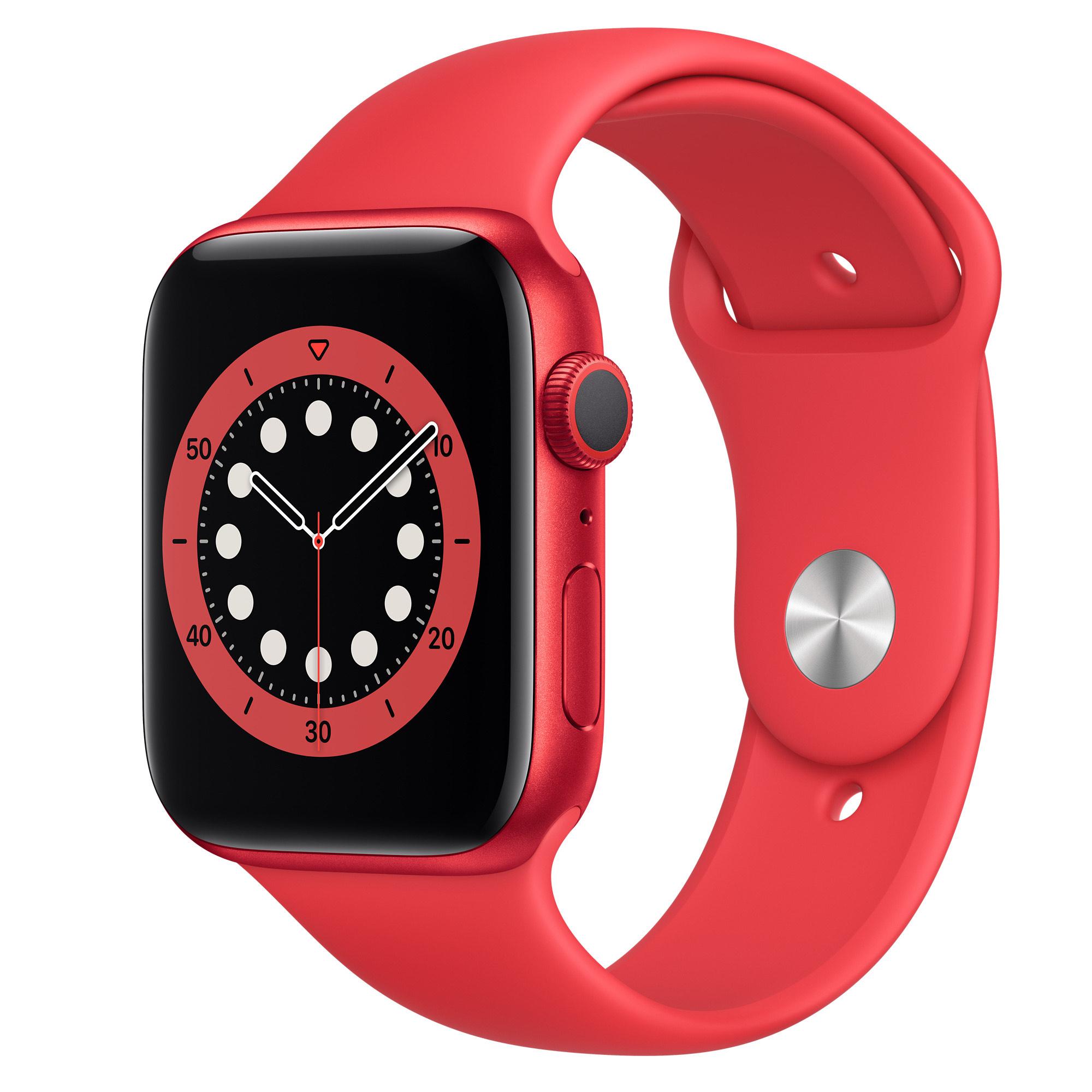 Montre connectée Apple Watch série 6 - 44mm, Rouge (vendeur tiers)