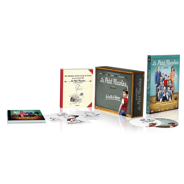 Le Petit Nicolas - Boîte à Trésors - Edition collector limitée DVD + CD de la bande originale + livre + 9 cartes postales de Sempé