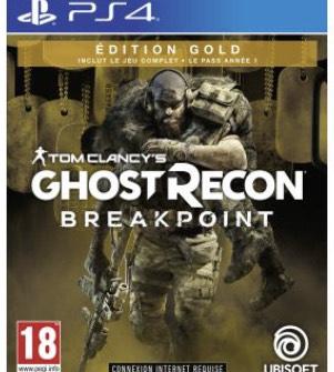 Jeu Tom Clancy's Ghost Recon Breakpoint Edition Gold sur PS4 (Vendeur tiers)