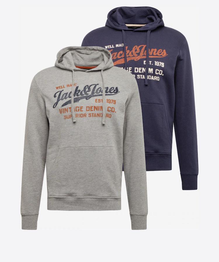 Pack de 2 Sweat-shirt Jack & Jones - Marine / Gris chiné (aboutyou.com)