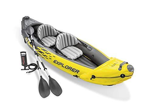 Kayak gonflable Intex Kayak Explorer K2 - 2 places, avec deux rames + gonfleur