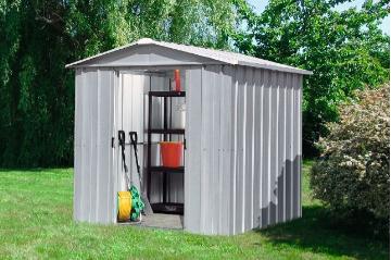 Abri de jardin en métal galvanisé avec kit d'ancrage inclus Yardmaster - 4.38 m²