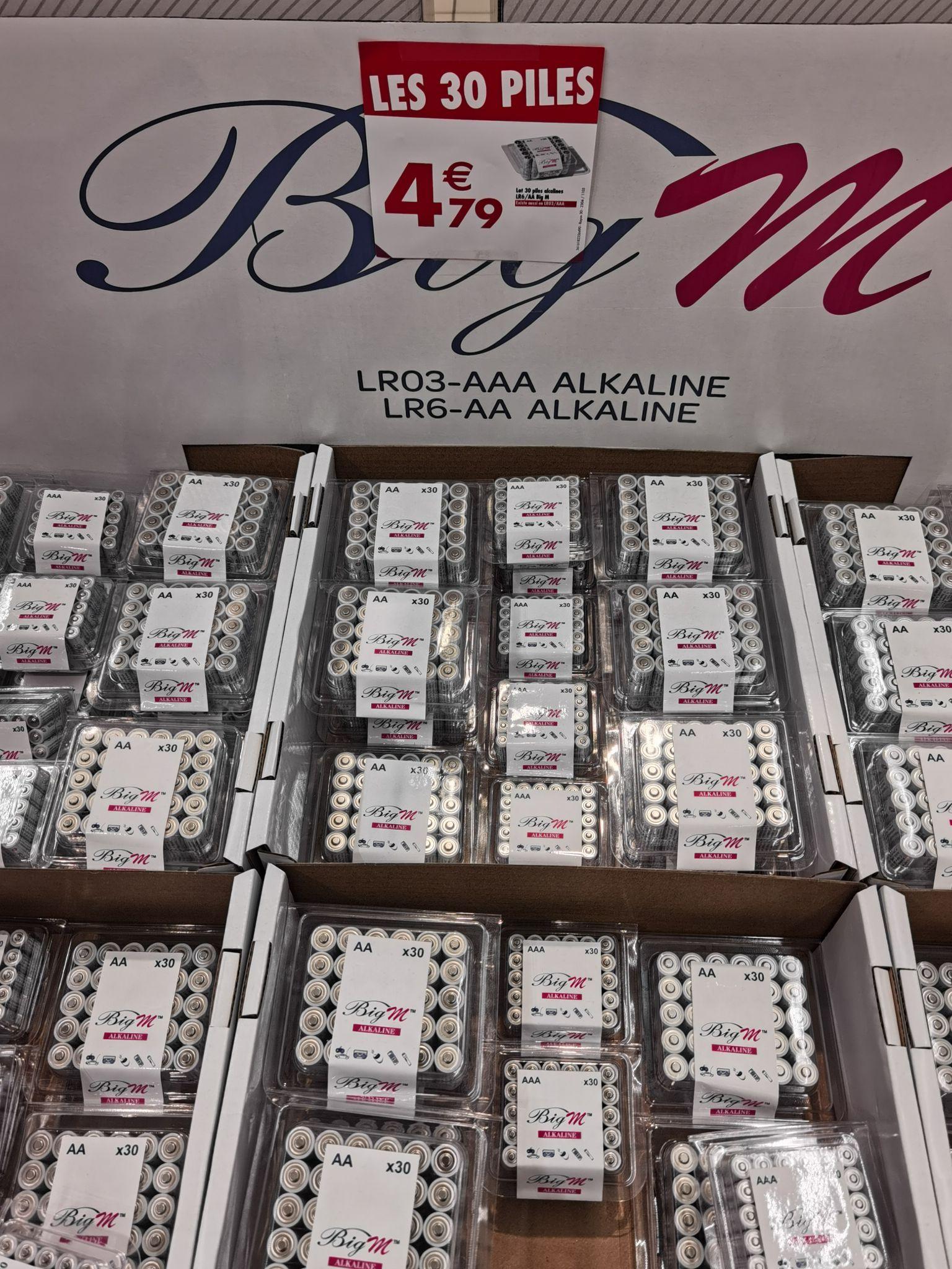 Lot de 30 piles AA ou AAA - Quimper (29)