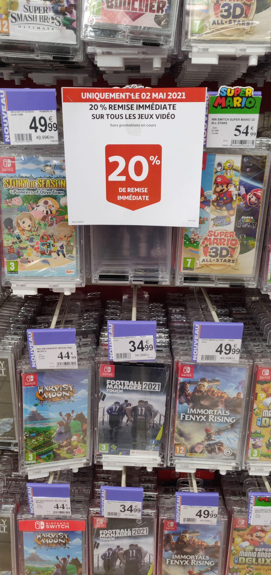 20% de réduction immédiate sur tous les jeux vidéo - Epagny (74)