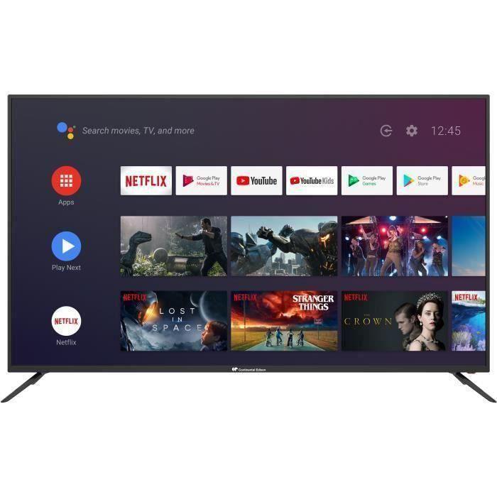 "TV 65"" Continental Edison CELED65SA120B6 - UHD 4K, Android TV"
