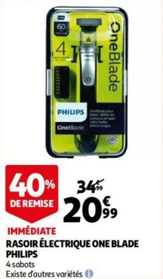 Rasoir/tondeuse Philips One Blade + 4 sabots