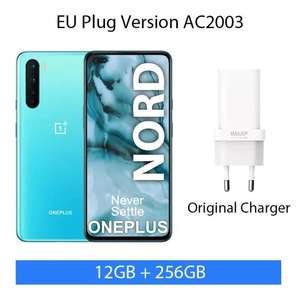 """Smartphone 6.44"""" OnePlus Nord 5G - Full HD+, Snapdragon 765G, 12 Go RAM, 256 Go, Blue marble"""